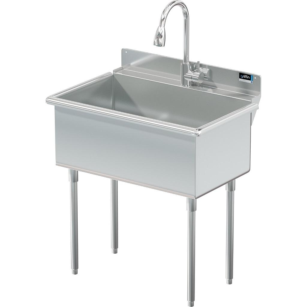 Utility Sink 30 X 18 W Pull Down Sprayer Griffin Products