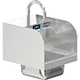 COMAL 9 x 9 x 5 HANDSINK SPACE SAVER WITH WALL FAUCET END SPLASH BOTH SIDES