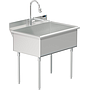 UTILITY SINK 36 X 24 W / PULL DOWN SPRAYER FAUCET